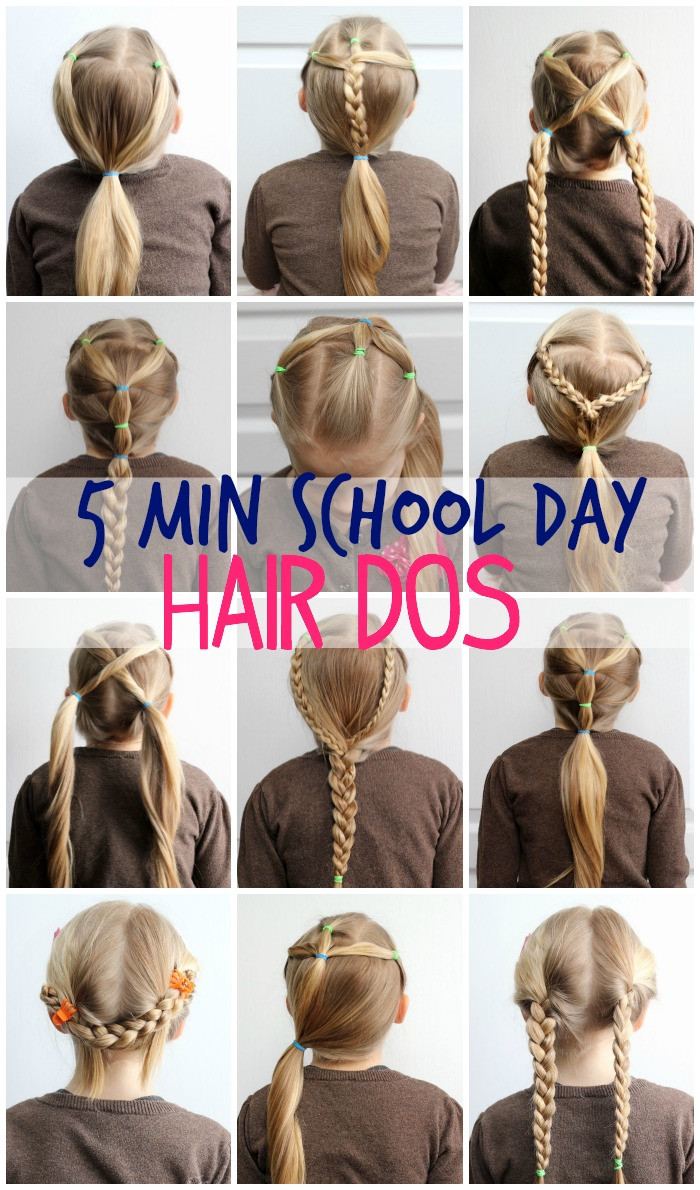 Best ideas about Cute Hairstyles For The First Day Of School . Save or Pin 5 Minute School Day Hair Styles FYNES DESIGNS Now.