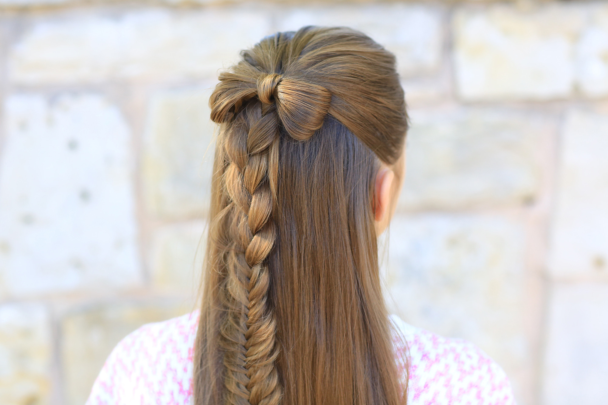 Best ideas about Cute Hairstyles With Bows . Save or Pin Half up Bow bo Now.