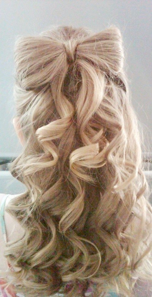 Best ideas about Cute Hairstyles With Bows . Save or Pin 17 Fancy Prom Hairstyles for Girls Pretty Designs Now.