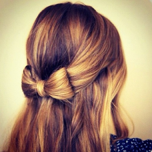 Best ideas about Cute Hairstyles With Bows . Save or Pin pretty hair cute fashion blonde bow girly hairstyle Now.
