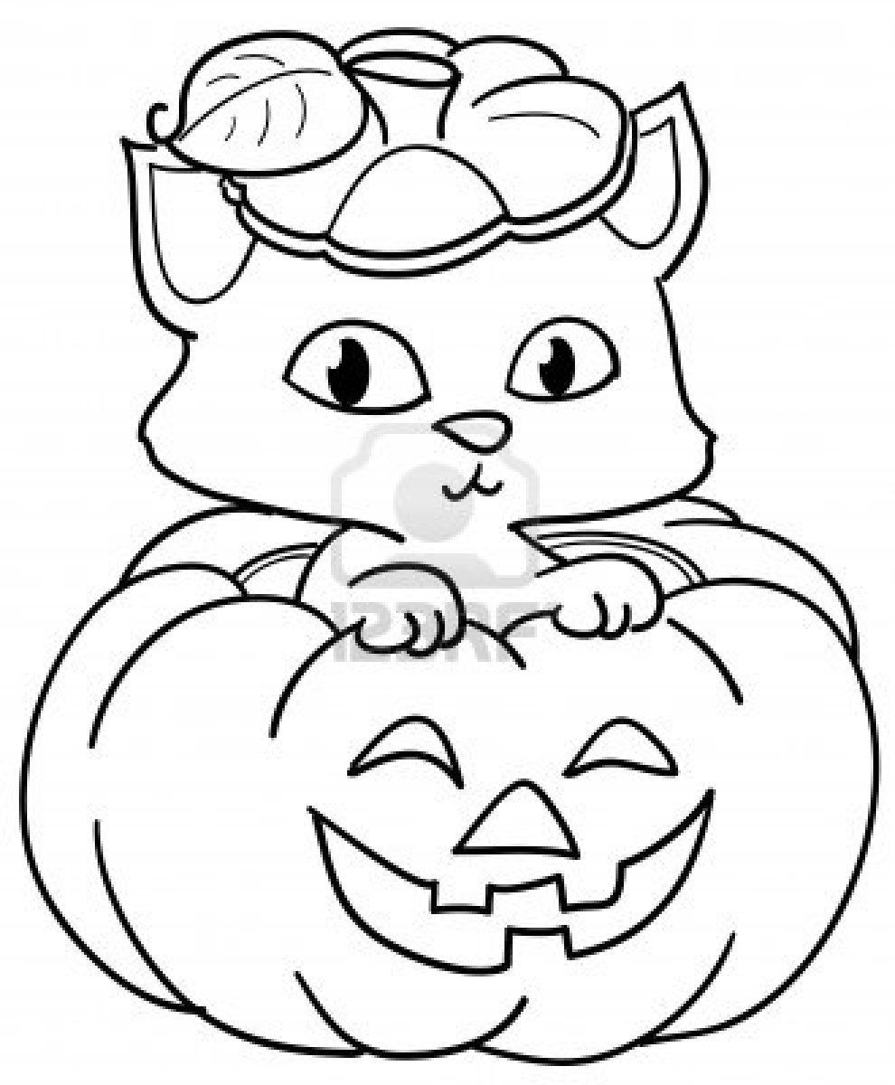 Best ideas about Cute Halloween Coloring Sheets For Kids . Save or Pin Cute halloween pumpkin coloring pages Now.