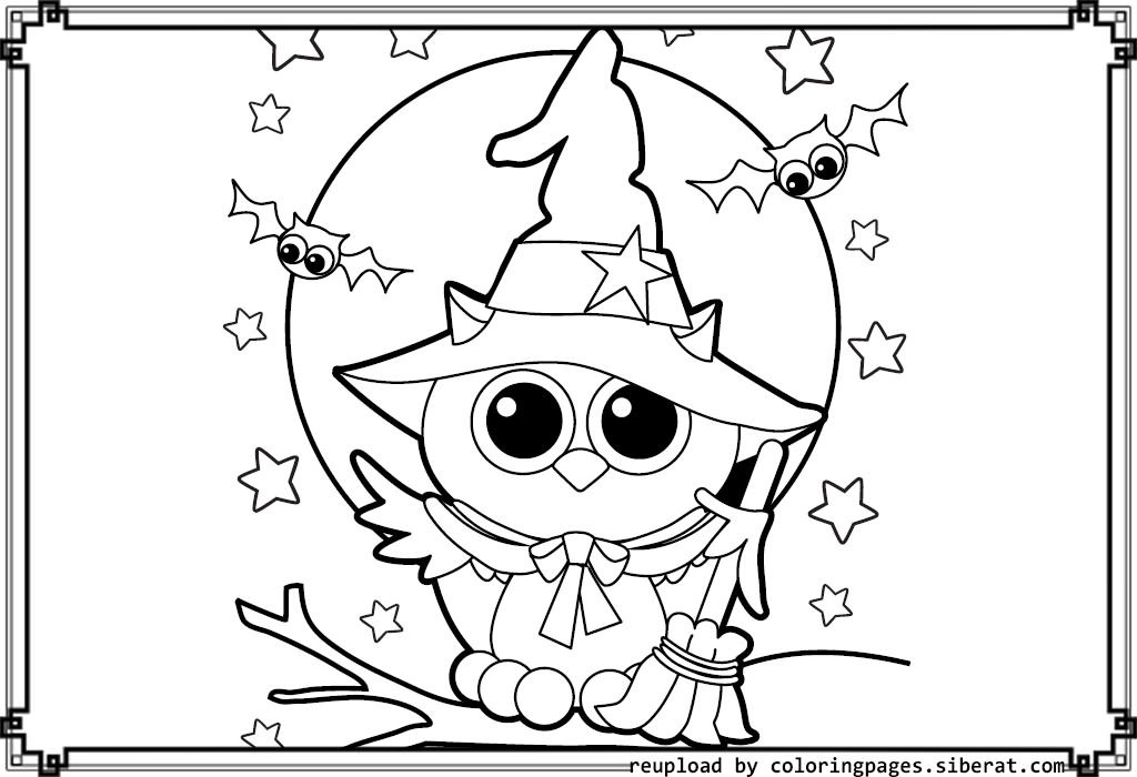 Best ideas about Cute Halloween Coloring Sheets For Kids . Save or Pin Cute Halloween Coloring Pages – Festival Collections Now.