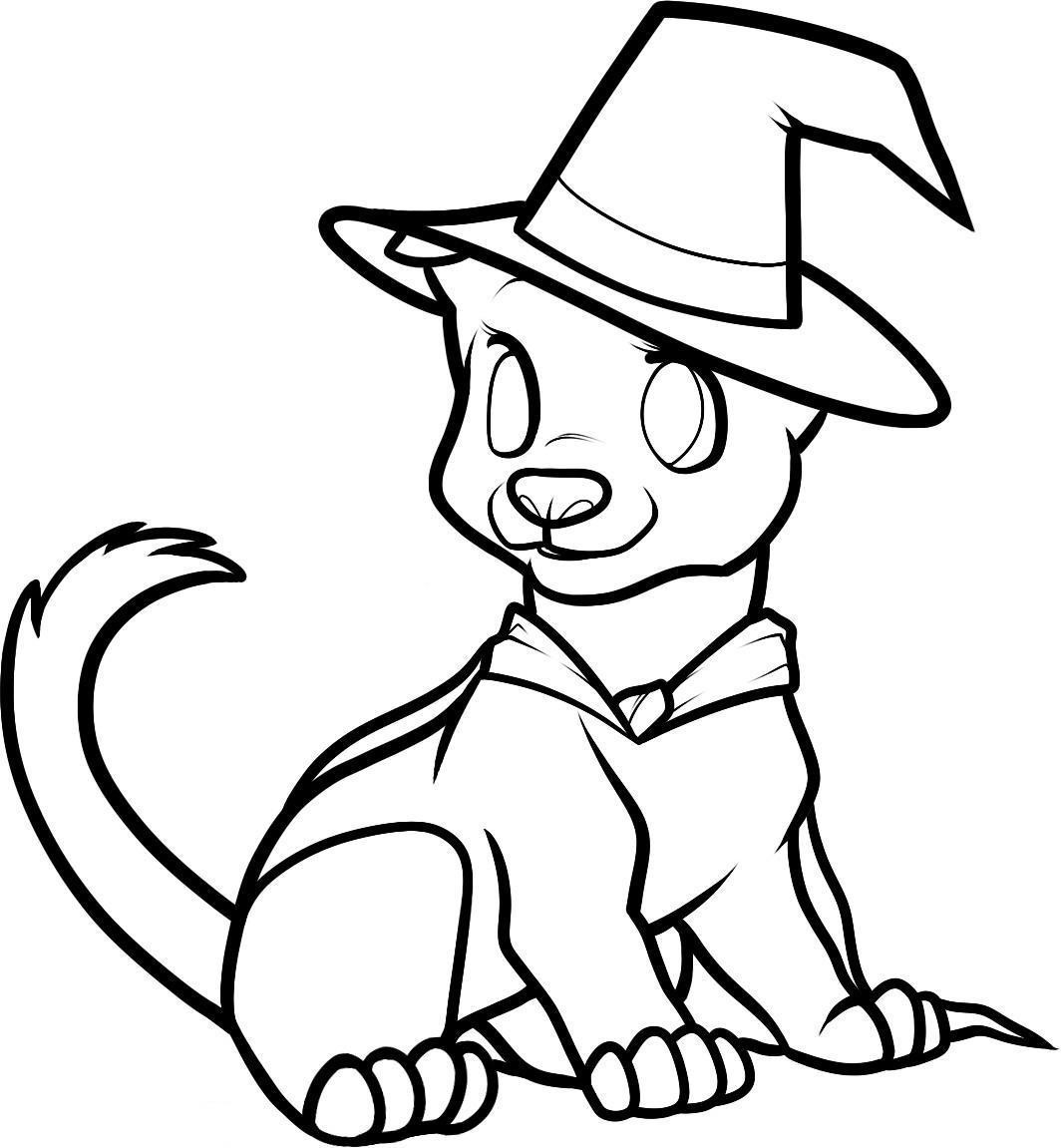 Best ideas about Cute Halloween Coloring Sheets For Kids . Save or Pin Cute Halloween Coloring Pages To Print Coloring Home Now.