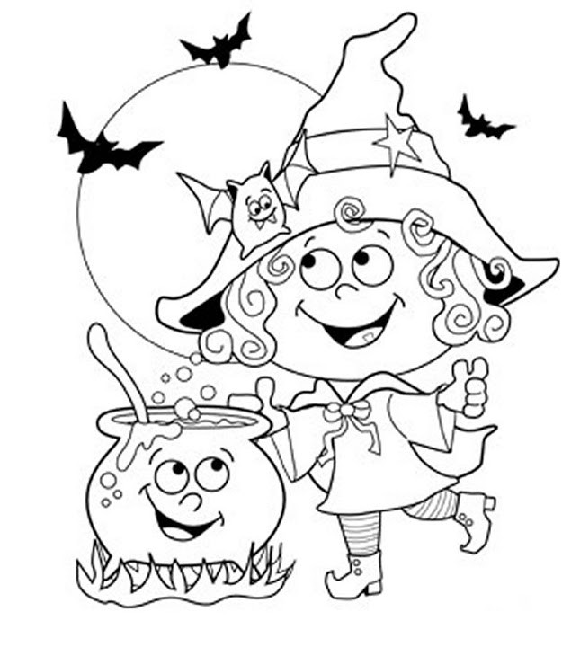 Best ideas about Cute Halloween Coloring Sheets For Kids . Save or Pin 24 Free Printable Halloween Coloring Pages for Kids Now.