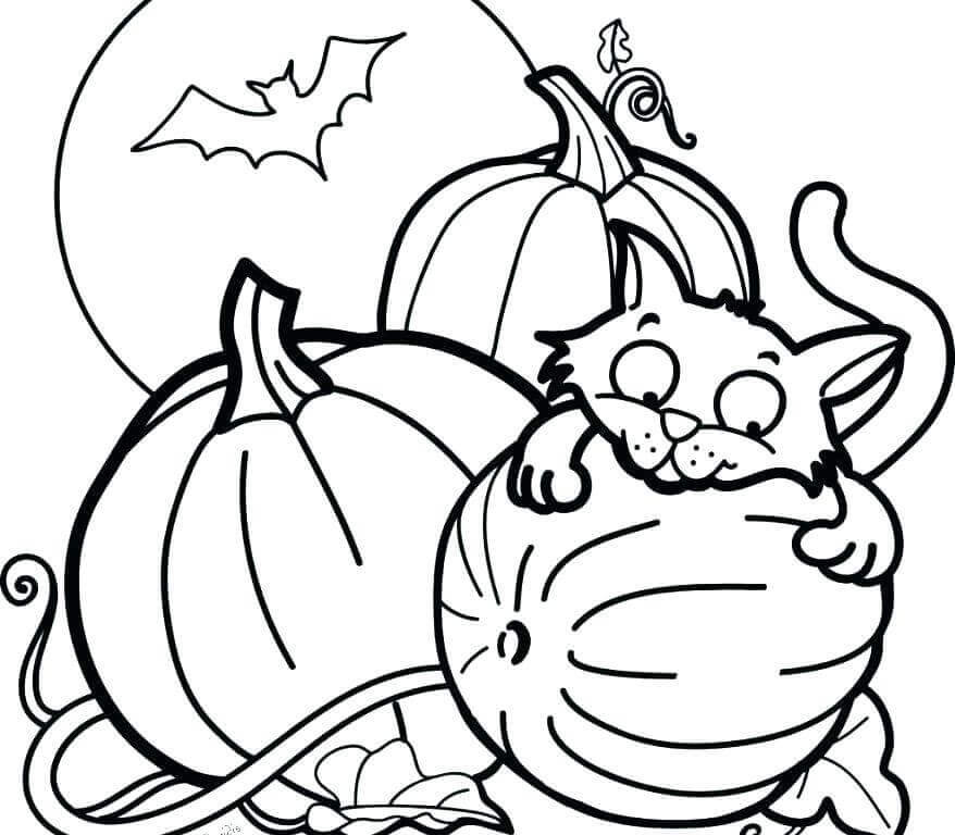 Best ideas about Cute Halloween Coloring Sheets For Kids . Save or Pin 30 Cute Halloween Coloring Pages For Kids Now.