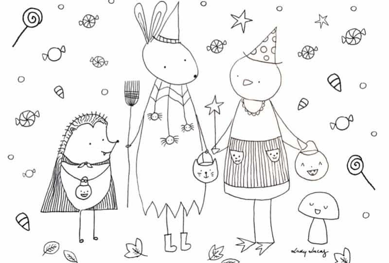 Best ideas about Cute Halloween Coloring Sheets For Kids . Save or Pin Cute Halloween Coloring Pages to print and color Now.