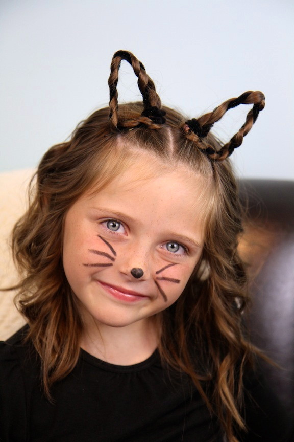 Best ideas about Cute Halloween Hairstyles . Save or Pin Braided Kitty Cat Ears Halloween Hairstyles Now.