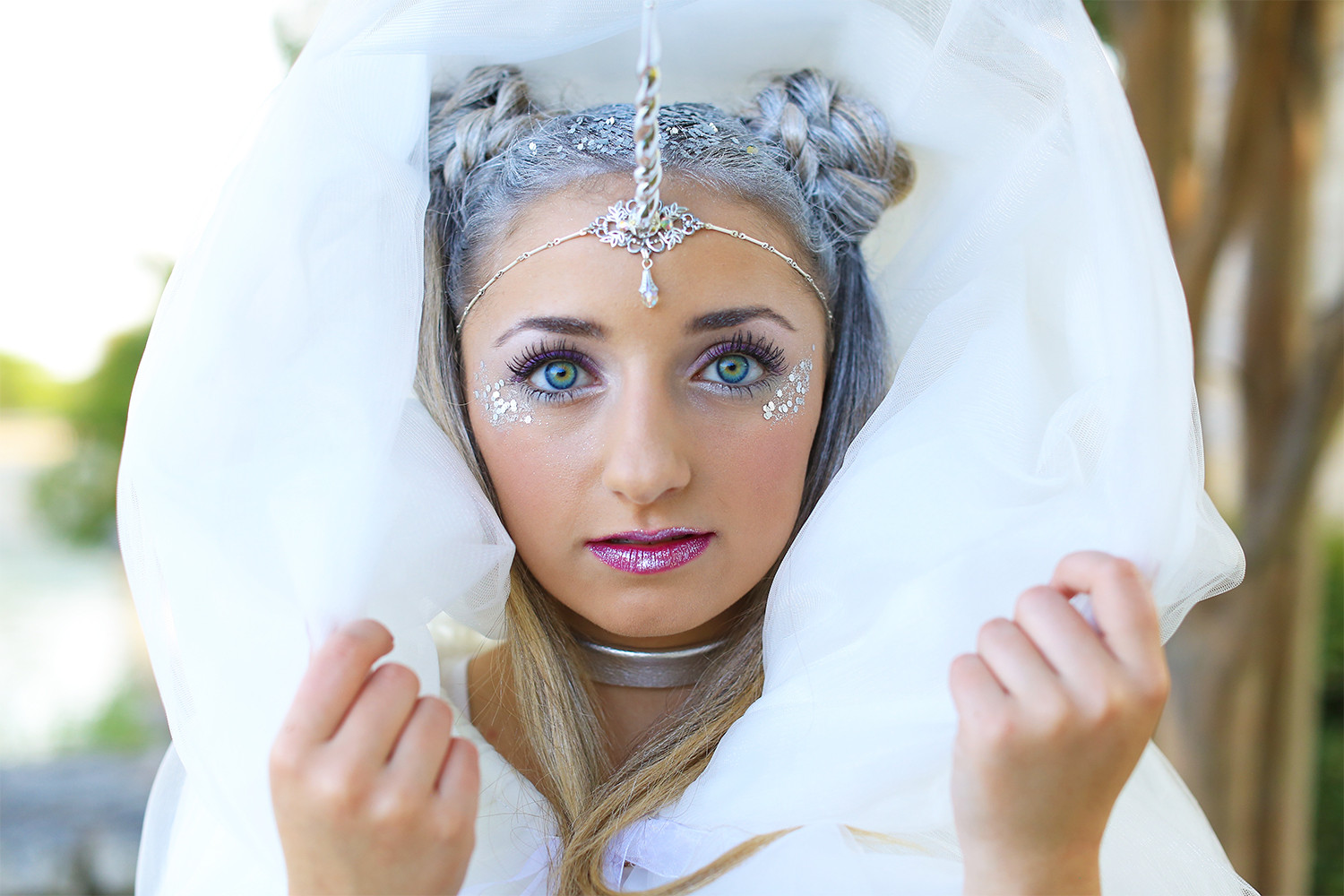 Best ideas about Cute Halloween Hairstyles . Save or Pin Unicorn Half Up DIY Halloween Costume Now.