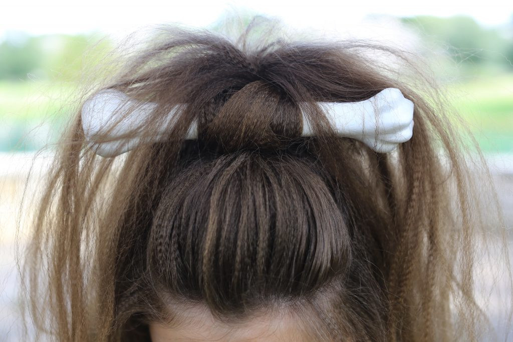 Best ideas about Cute Halloween Hairstyles . Save or Pin Cave Woman Half up Halloween Hairstyle Now.