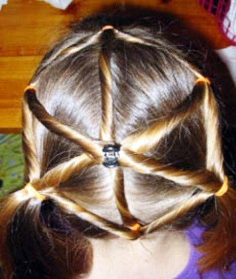 Best ideas about Cute Halloween Hairstyles . Save or Pin Kids hairstyle spider web thi would be so cute for a Now.