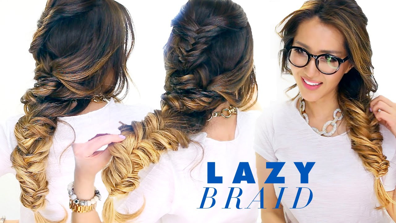 Best ideas about Cute Lazy Hairstyles . Save or Pin LAZY Girl s French Fishtail BRAID Hairstyle ★ Cute SCHOOL Now.