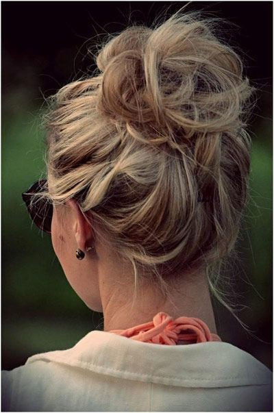 Best ideas about Cute Lazy Hairstyles . Save or Pin Best 25 High bun hairstyles ideas on Pinterest Now.