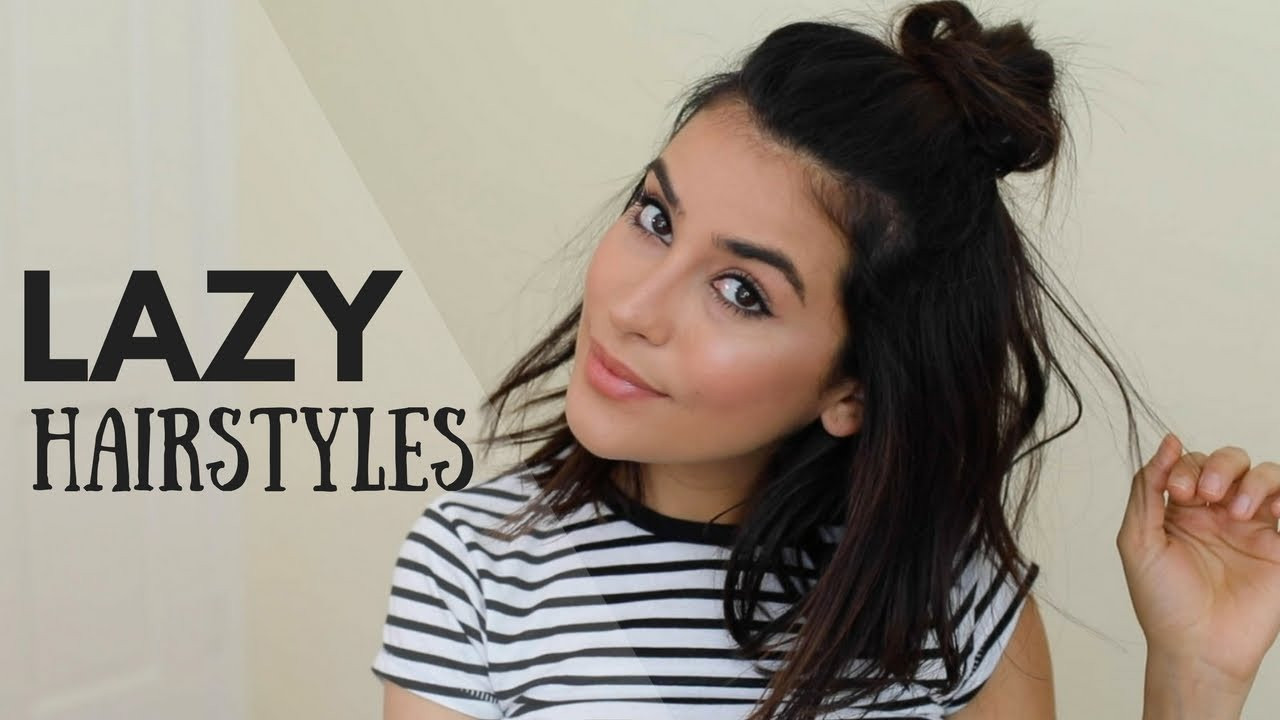 Best ideas about Cute Lazy Hairstyles . Save or Pin Cute Lazy Day Hairstyles NO HEAT Now.