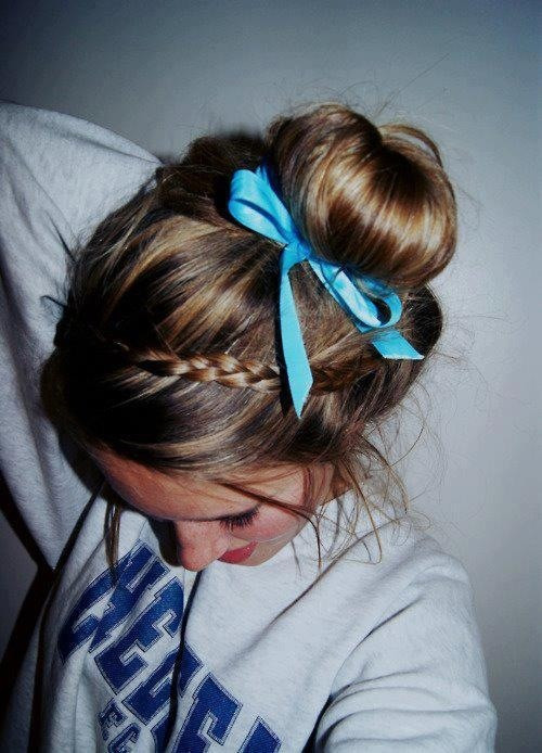 Best ideas about Cute Lazy Hairstyles . Save or Pin 46 best images about Lazy sick day hair and clothes on Now.