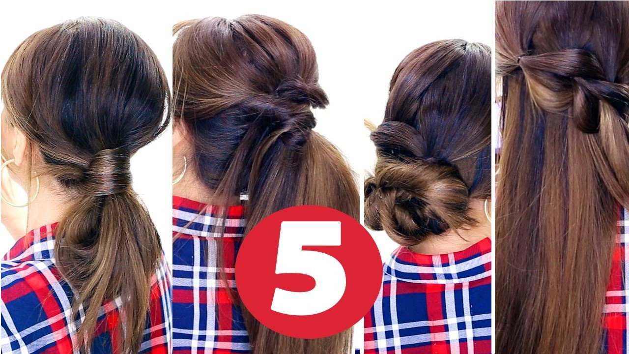 Best ideas about Cute Lazy Hairstyles . Save or Pin 5 Easy LAZY HAIRSTYLES ★ Everyday Cute Hairstyles Now.