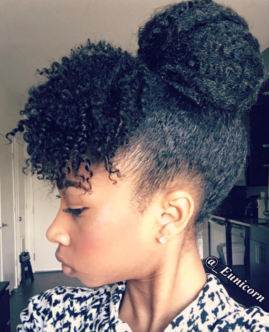 Best ideas about Cute Natural Hairstyles . Save or Pin Cute natural updo eunicorn s munity Now.