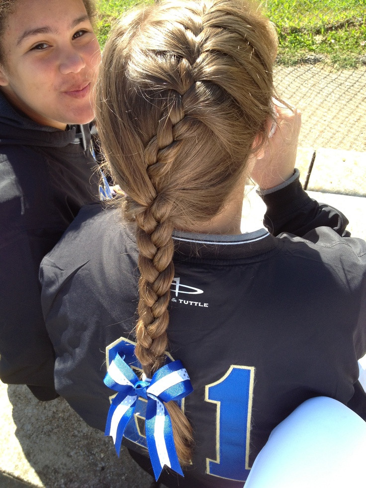 Best ideas about Cute Softball Hairstyles . Save or Pin 28 best images about Softball on Pinterest Now.
