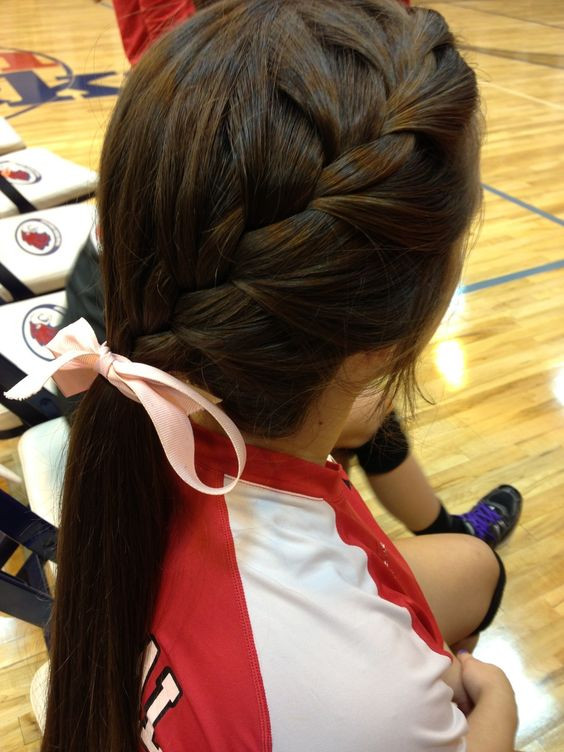 Best ideas about Cute Softball Hairstyles . Save or Pin 1000 ideas about Cute Volleyball Hair on Pinterest Now.