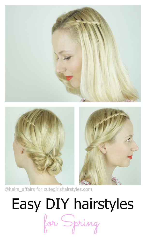 Best ideas about Cute Spring Hairstyles . Save or Pin Easy DIY Hairstyles for Spring Now.