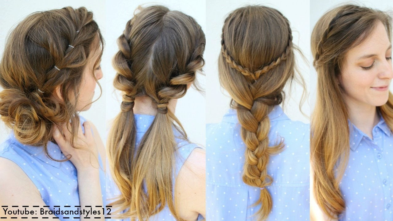 Best ideas about Cute Summer Hairstyles . Save or Pin 4 Easy Summer Hairstyle Ideas Now.