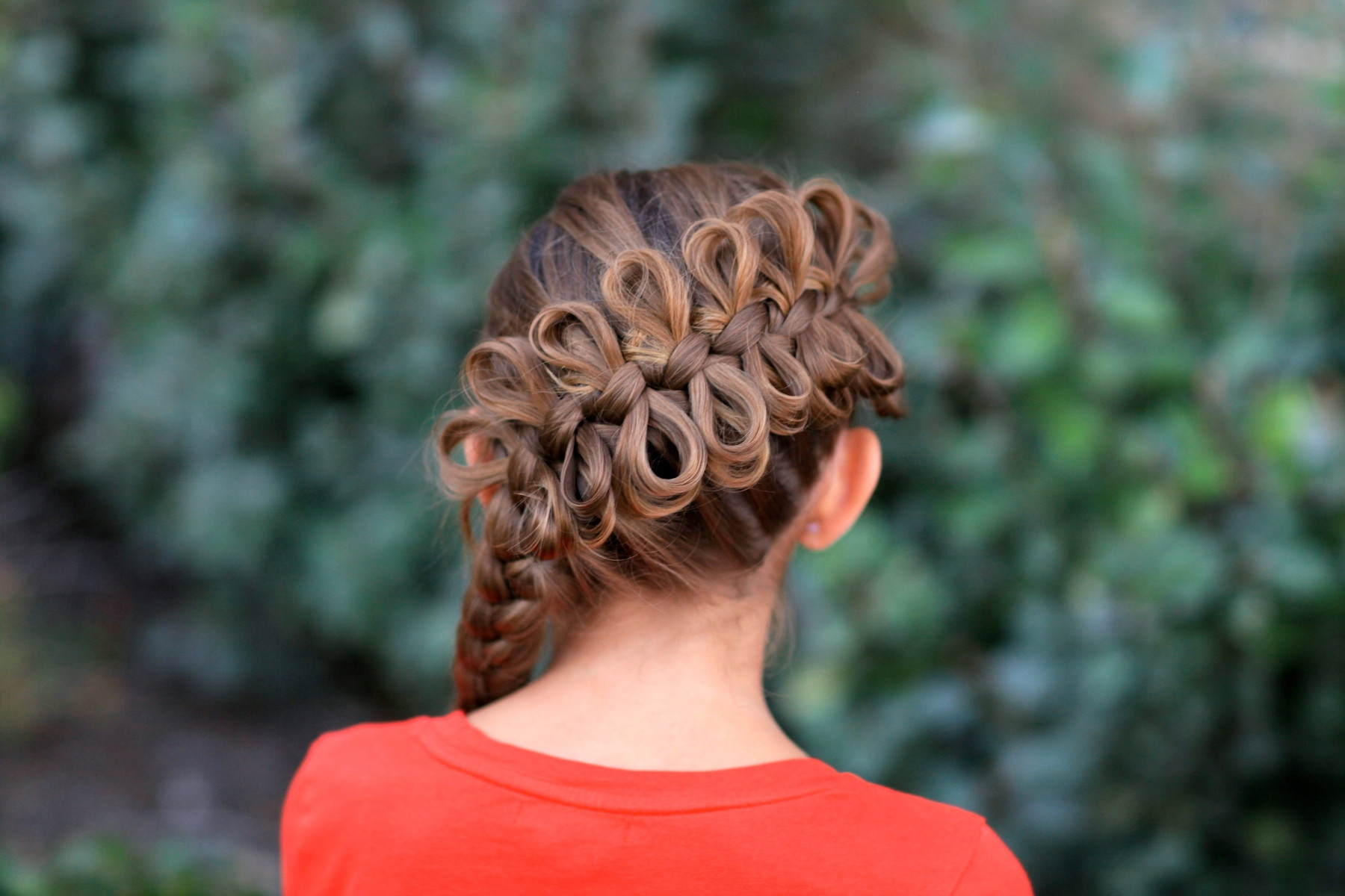 Best ideas about Cute White Girl Hairstyles . Save or Pin Diagonal Bow Braid Popular Hairstyles Now.