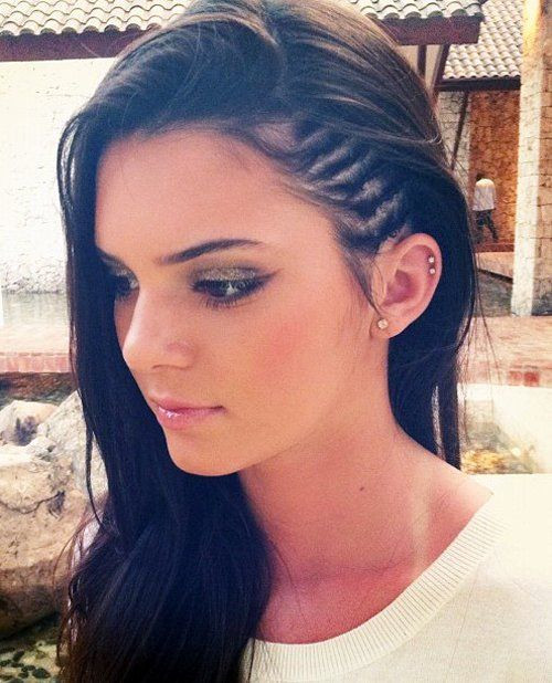 Best ideas about Cute White Girl Hairstyles . Save or Pin Faux Undercut style side braids – StrayHair Now.