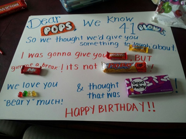 Best ideas about Dad Birthday Gift Ideas . Save or Pin Birthday Card for my dad with candy Now.