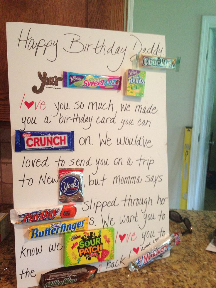 Best ideas about Dad Birthday Gift Ideas . Save or Pin Candy Birthday Card for Dad Birthday Pinterest Now.
