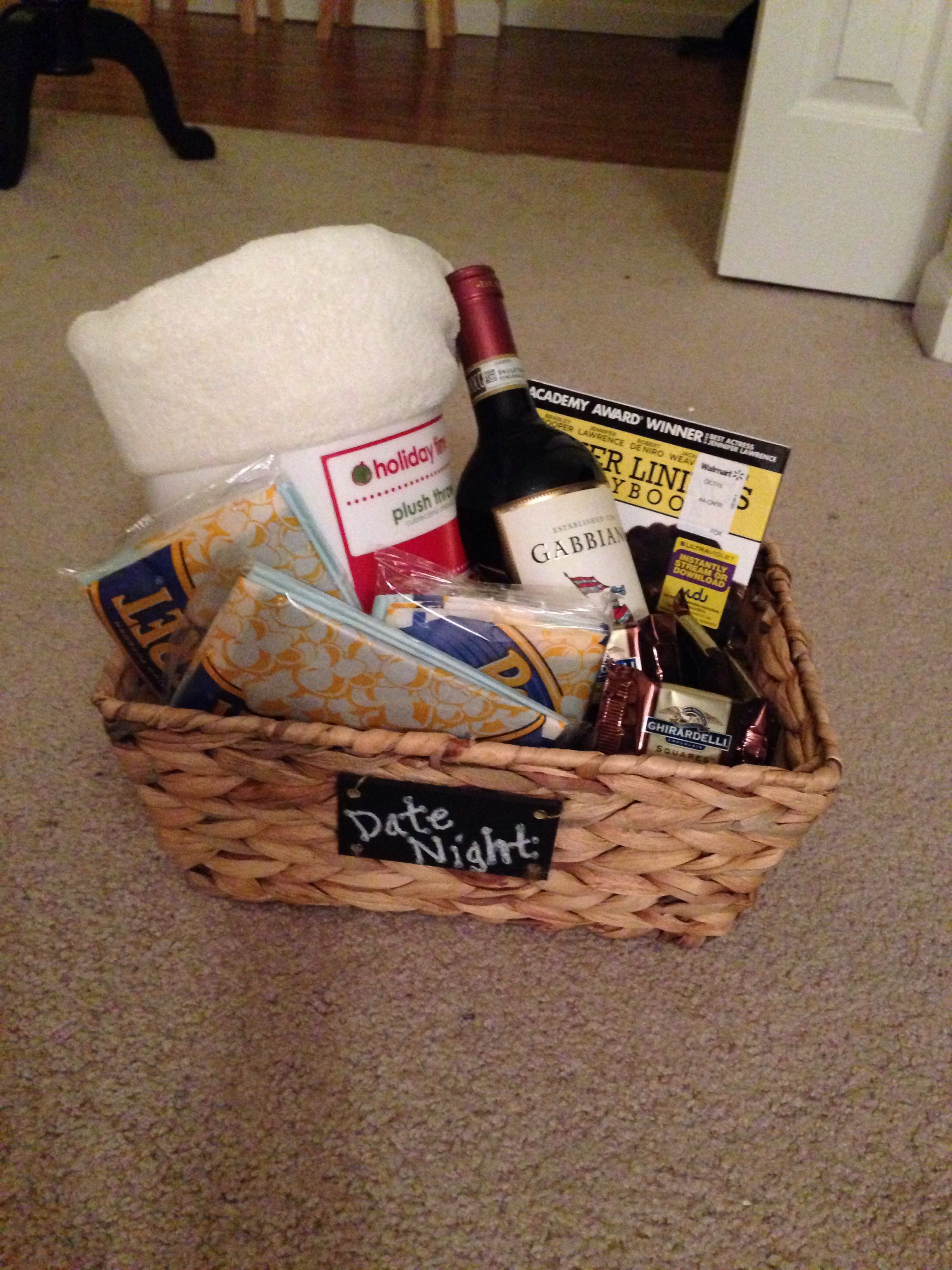 "Best ideas about Date Night Gift Ideas . Save or Pin Holiday Grab Bag Gift Idea ""Date Night"" Includes a basket Now."