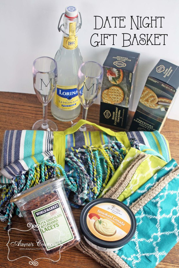 Best ideas about Date Night Gift Ideas . Save or Pin Date Night Picnic Basket Gift – alaynascreations Now.