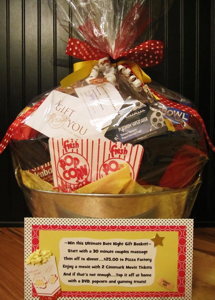 Best ideas about Date Night Gift Ideas . Save or Pin Popcorn container movie t card candle popcorn candy Now.