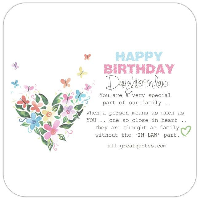 Best ideas about Daughter In Law Birthday Wishes . Save or Pin Happy Birthday Daughter in law BIRTHDAYS Now.