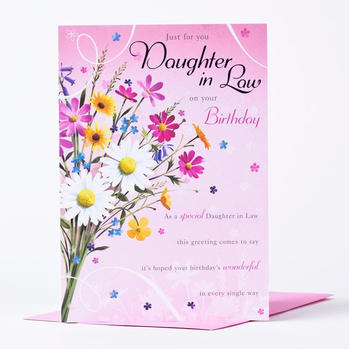 Best ideas about Daughter In Law Birthday Wishes . Save or Pin Birthday Card Just For You Daughter In Law Now.