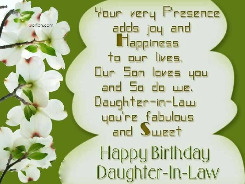 Best ideas about Daughter In Law Birthday Wishes . Save or Pin 55 Beautiful Birthday Wishes For Daughter In Law – Best Now.