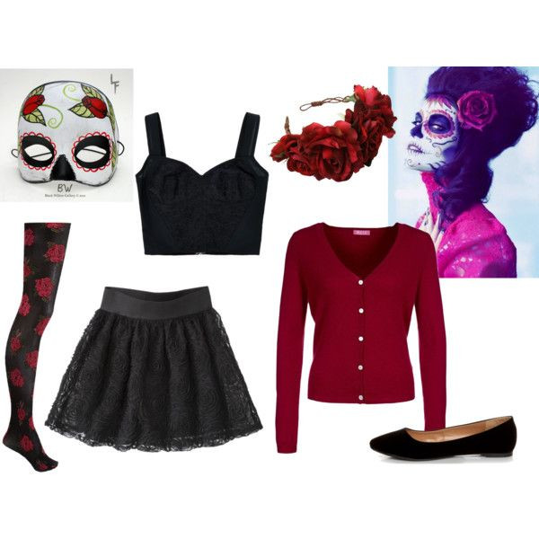 Best ideas about Day Of The Dead DIY Costume . Save or Pin DIY Day of the Dead Costume by hannahgomez via Polyvore Now.