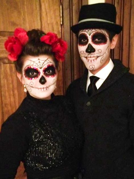 Best ideas about Day Of The Dead DIY Costume . Save or Pin Dia de Los muertos day of the dead sugar skull couples Now.