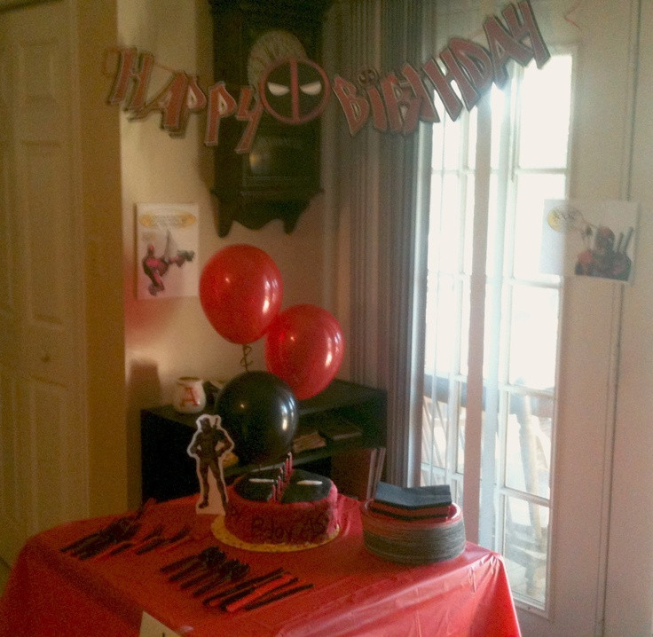 Best ideas about Deadpool Birthday Decorations . Save or Pin 17 best images about Noah s 11th Birthday party Deadpool Now.