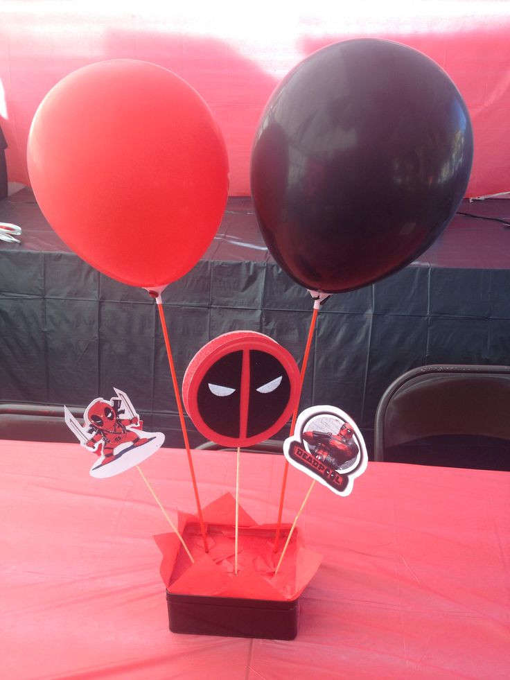 Best ideas about Deadpool Birthday Decorations . Save or Pin Deadpool birthday center pieces Now.