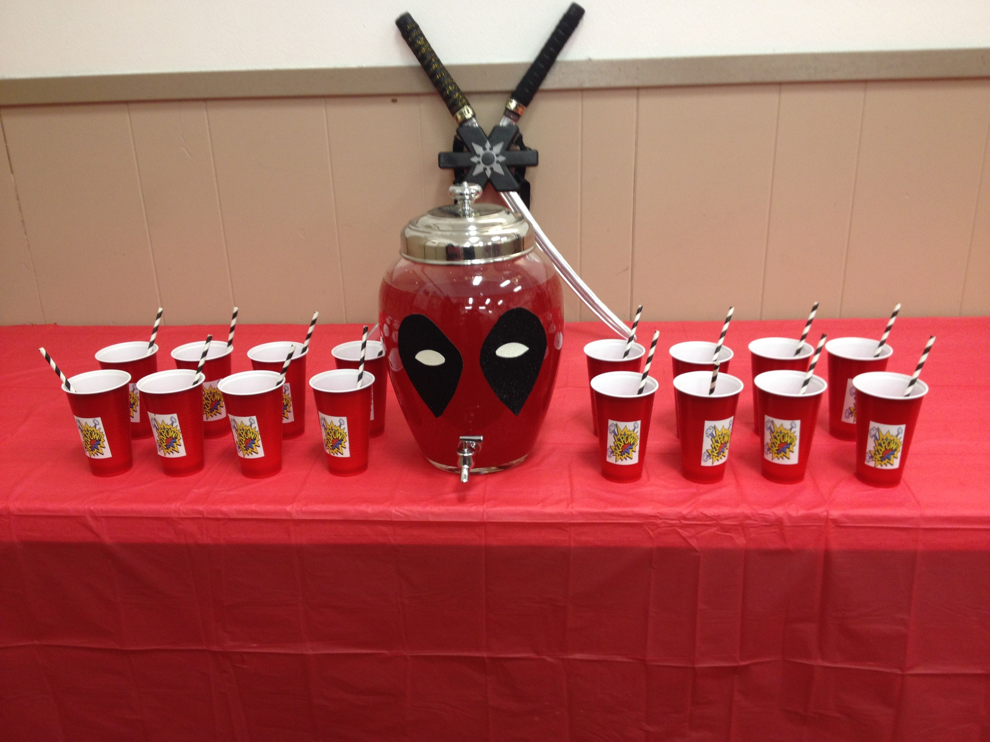 Best ideas about Deadpool Birthday Decorations . Save or Pin Deadpool punch bowl Now.