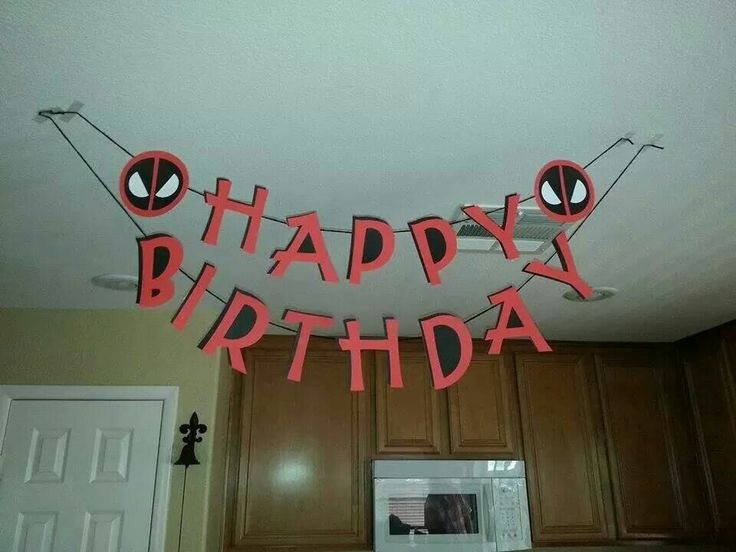 Best ideas about Deadpool Birthday Decorations . Save or Pin 7 best images about Deadpool party ideas on Pinterest Now.