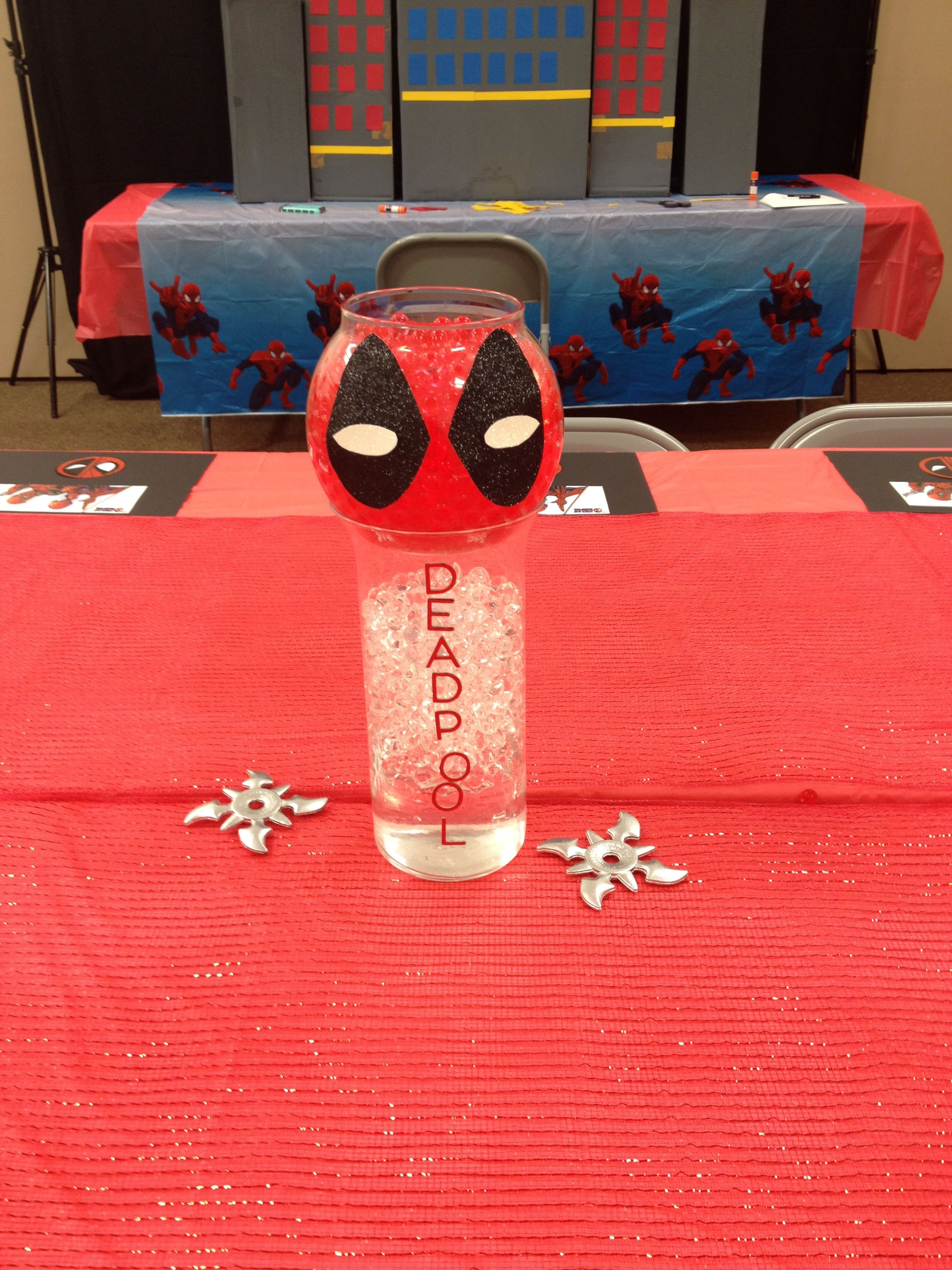 Best ideas about Deadpool Birthday Decorations . Save or Pin Spider man vs Deadpool Birthday Party 4 Now.