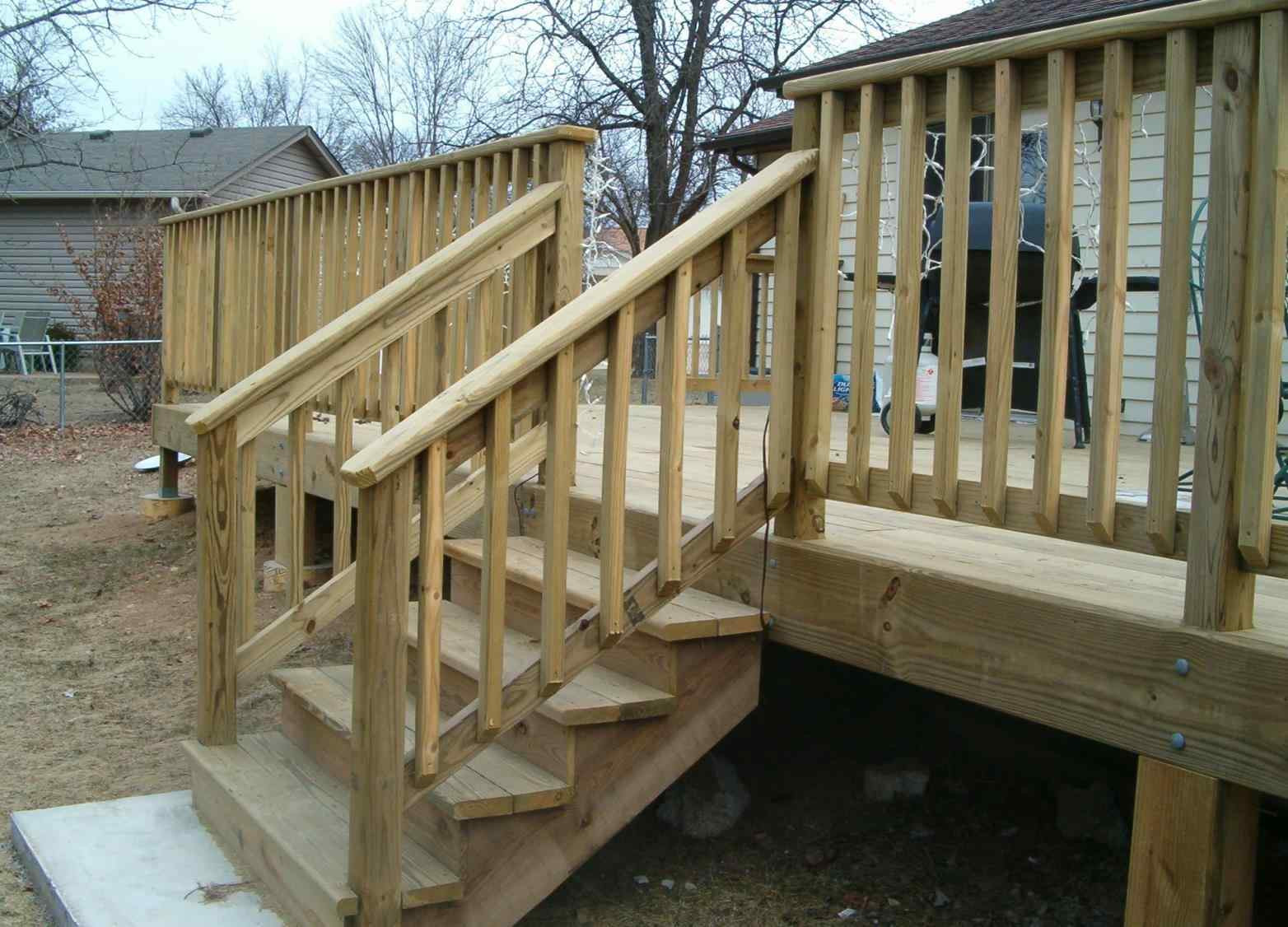 Best ideas about Deck Stair Codes . Save or Pin Popular Material Deck Stair Railing Ideas — Air Home Now.