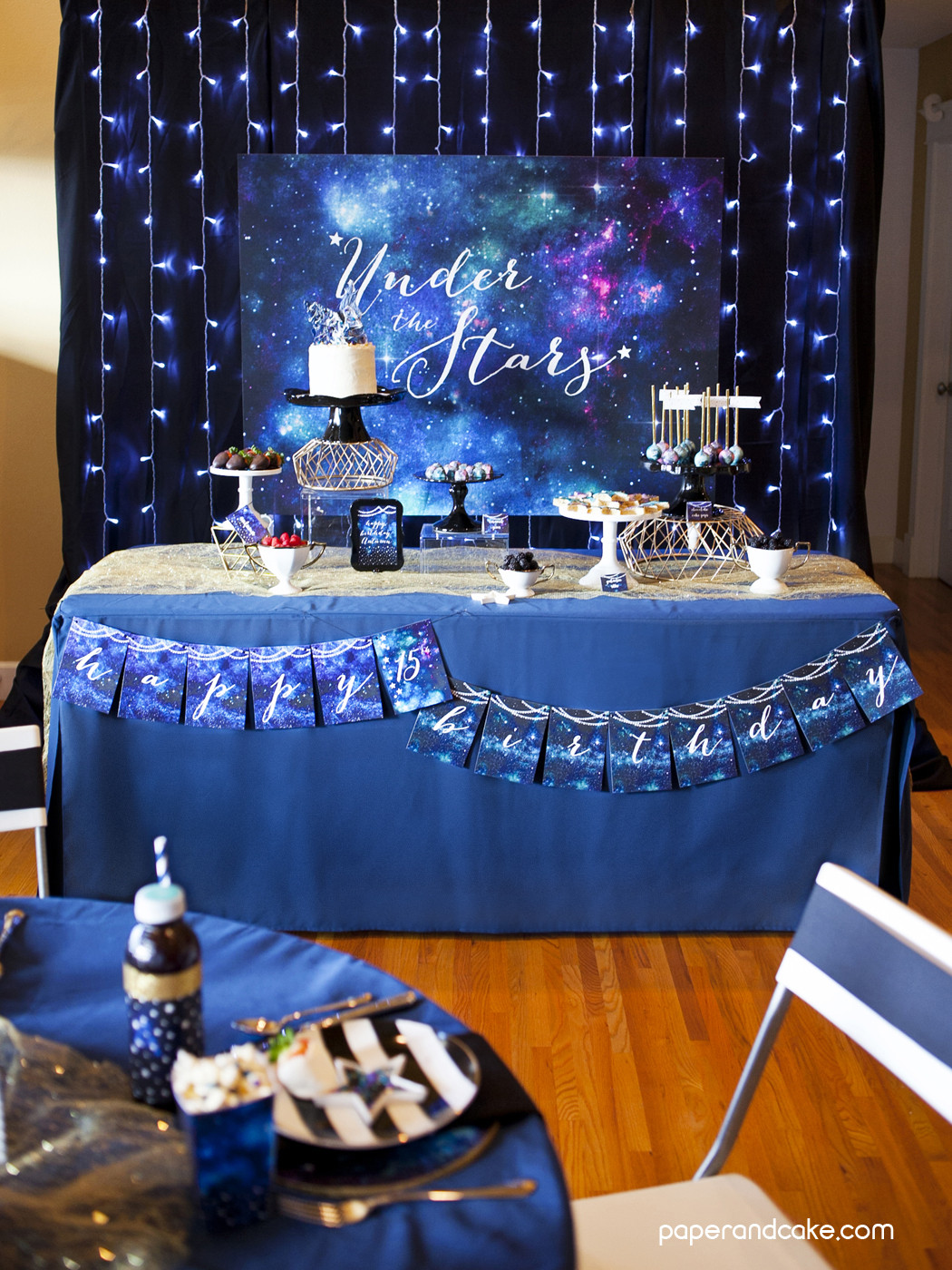 Best ideas about Decorations For 15 Birthday Party . Save or Pin Under the Stars 15th Birthday party Paper and Cake Paper Now.