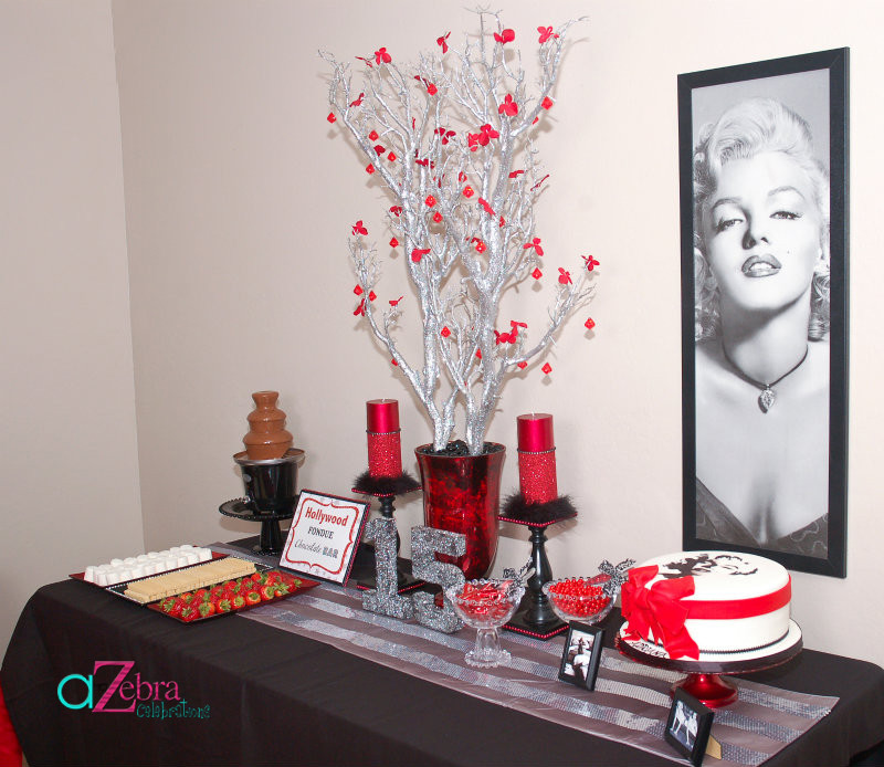 Best ideas about Decorations For 15 Birthday Party . Save or Pin Marilyn Monroe 15th Birthday Party – A to Zebra Celebrations Now.