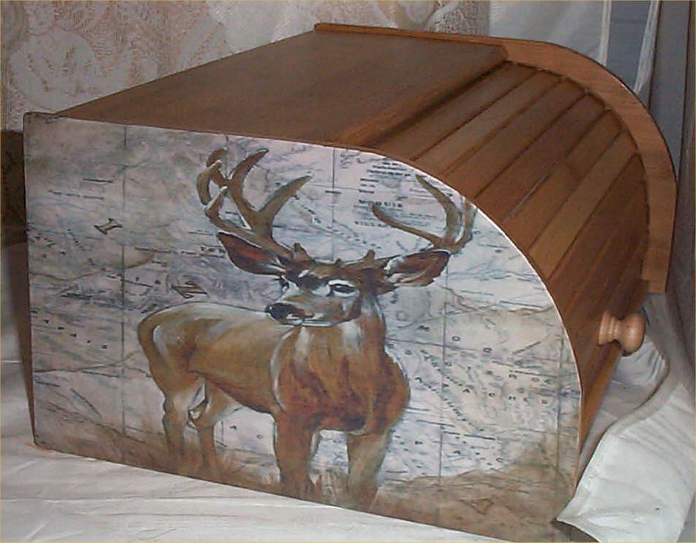 Best ideas about Deer Kitchen Decor . Save or Pin Deer Moose Bread Box Bamboo Wood Cabin Lodge Kitchen Now.