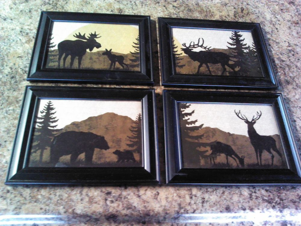 Best ideas about Deer Kitchen Decor . Save or Pin 4 Wildlife Plaques Elk Deer Bear Moose with GLASS Now.