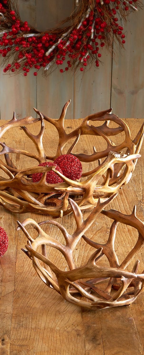 Best ideas about Deer Kitchen Decor . Save or Pin Faux Antler Bowls Now.