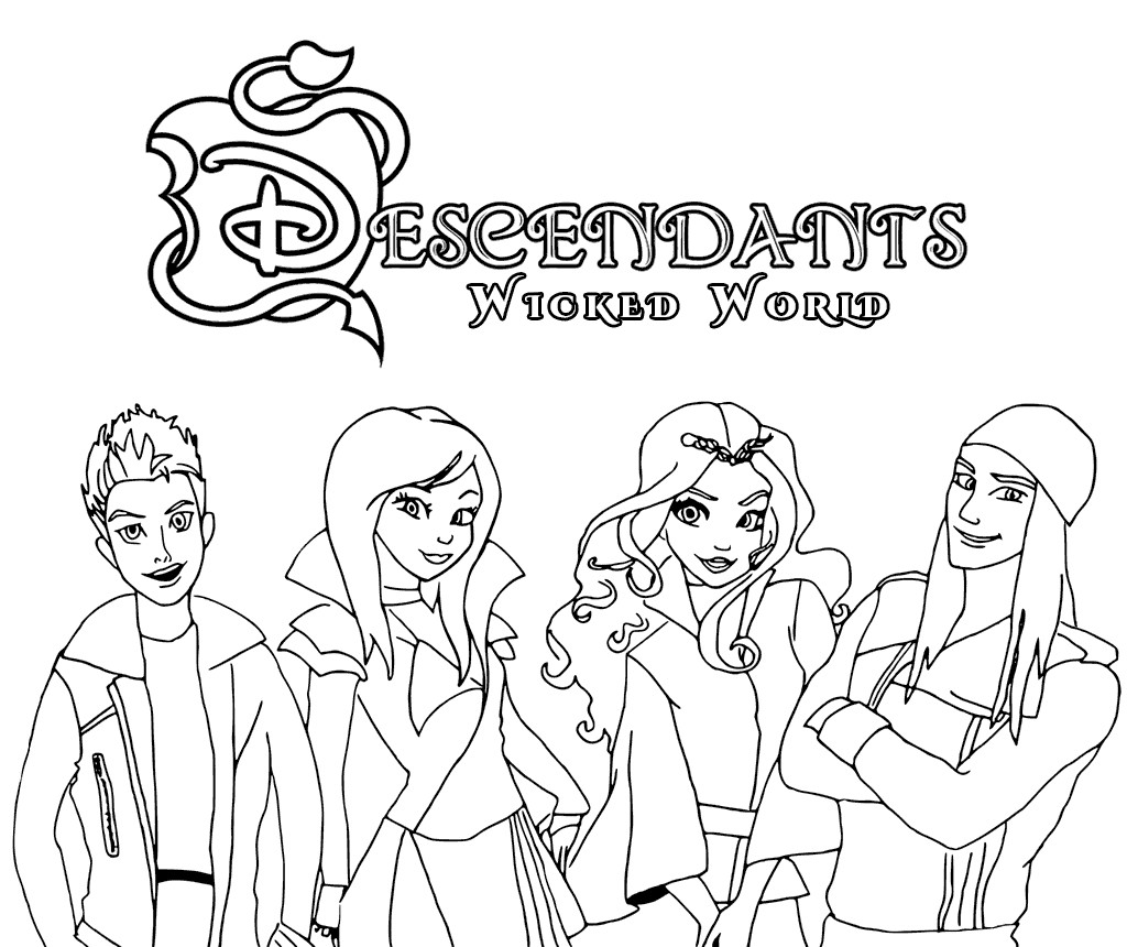 Best ideas about Descendants Printable Coloring Pages . Save or Pin Descendants Coloring Pages Best Coloring Pages For Kids Now.