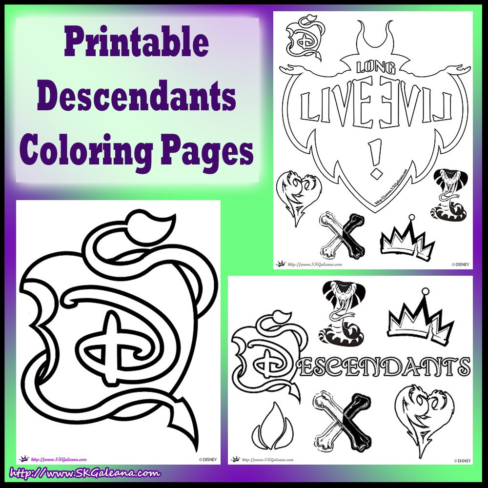 Best ideas about Descendants Printable Coloring Pages . Save or Pin Free Disney Descendants Coloring Pages Now.