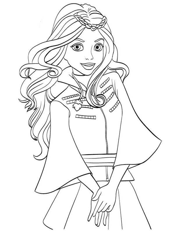 Best ideas about Descendants Printable Coloring Pages . Save or Pin Kids n fun Now.